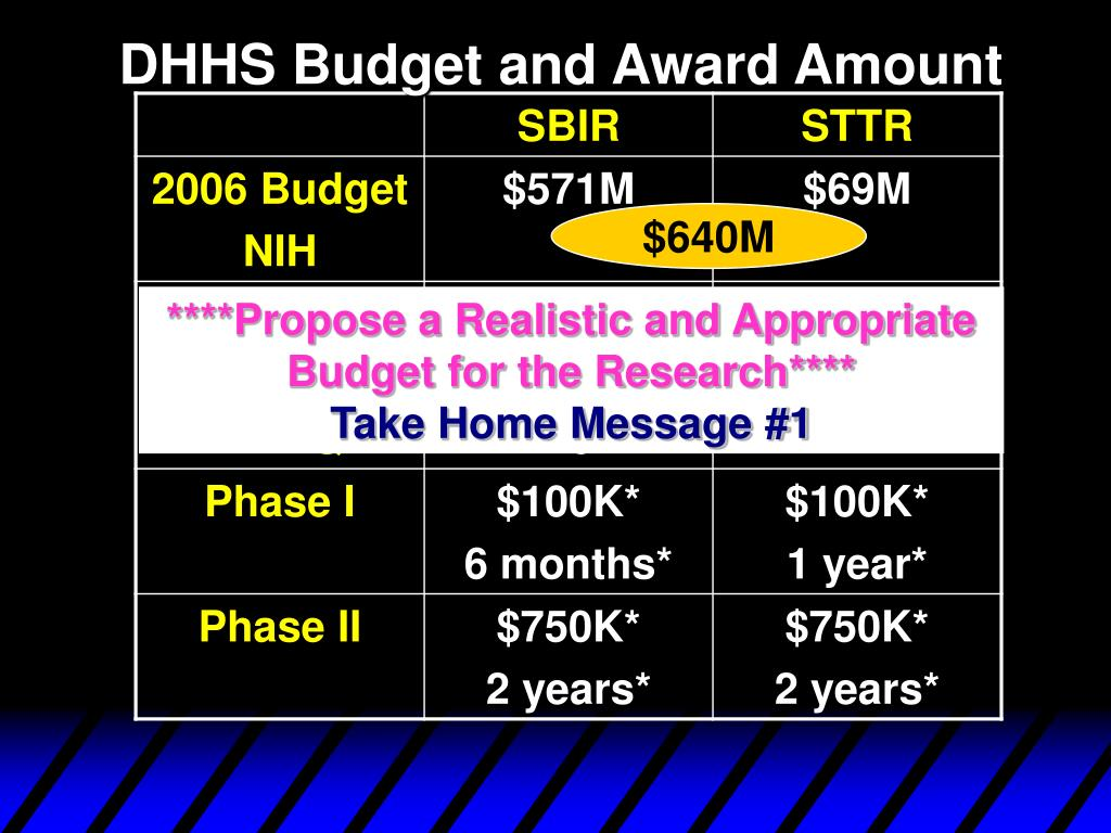 DHHS Budget and Award Amount