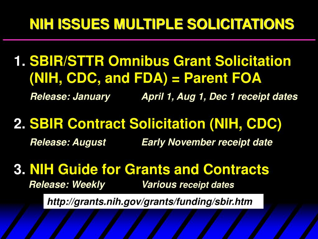 NIH ISSUES MULTIPLE SOLICITATIONS
