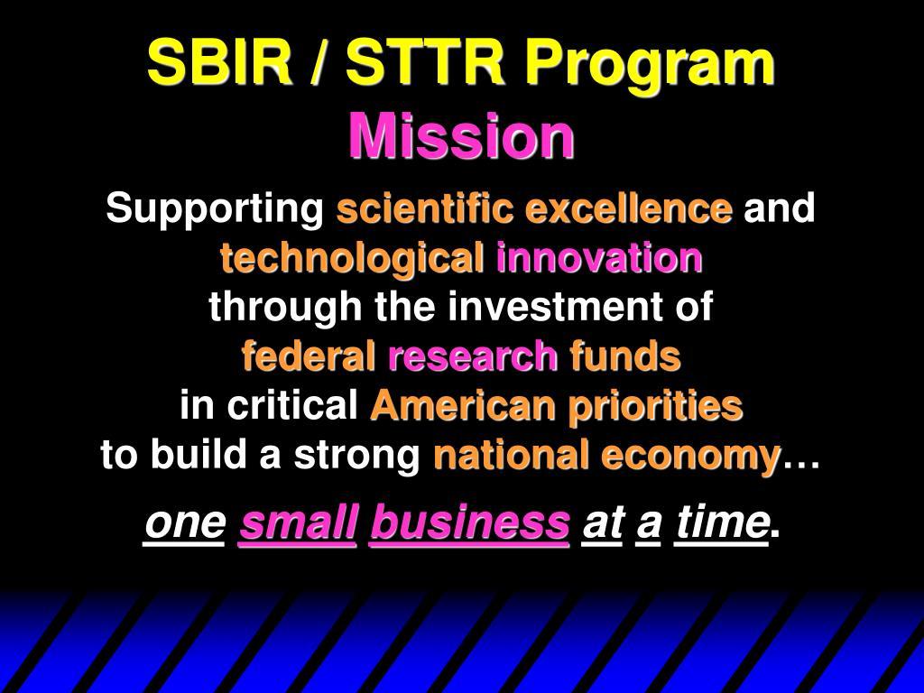 SBIR / STTR Program