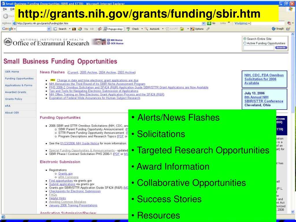 http://grants.nih.gov/grants/funding/sbir.htm
