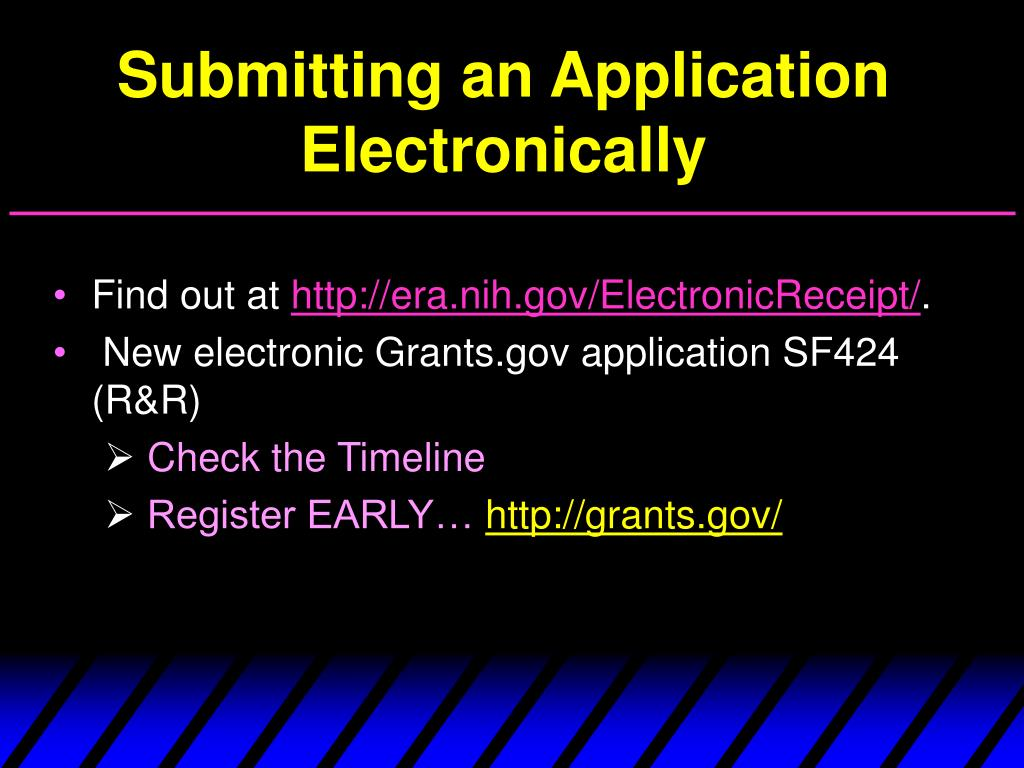 Submitting an Application Electronically