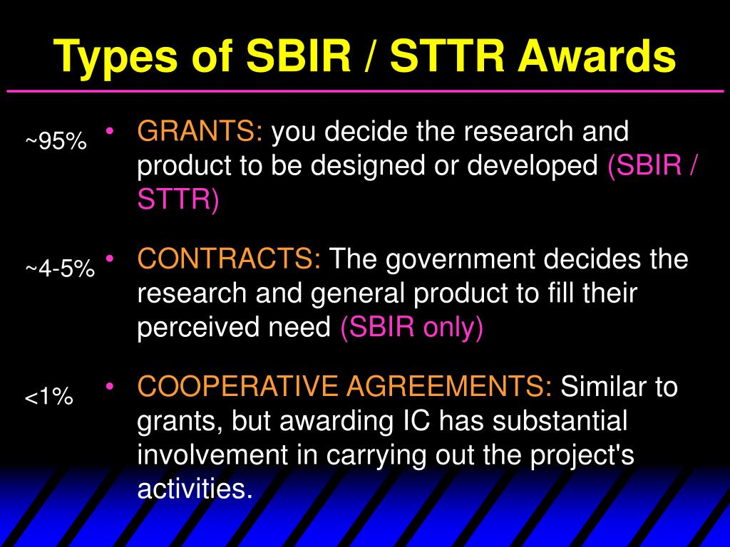 Types of SBIR / STTR Awards