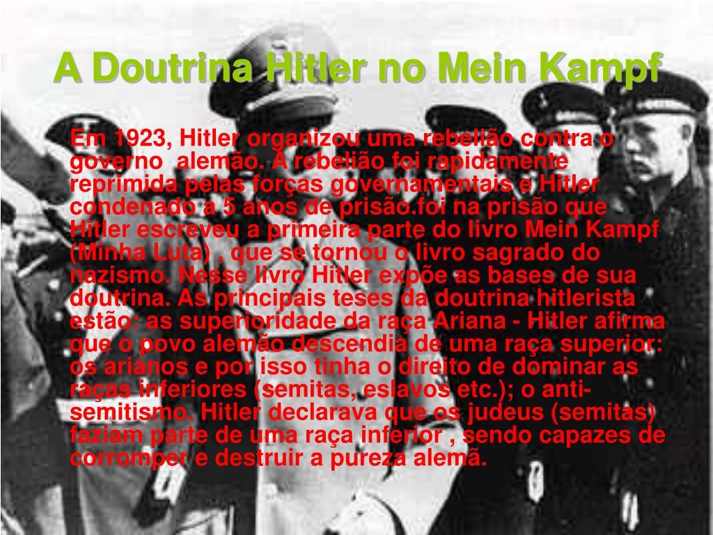A Doutrina Hitler no Mein Kampf