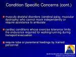 condition specific concerns cont7
