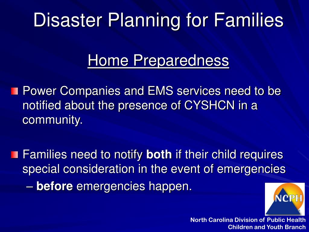Disaster Planning for Families
