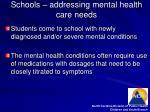 schools addressing mental health care needs
