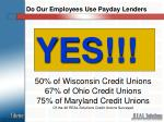 do our employees use payday lenders