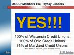do our members use payday lenders
