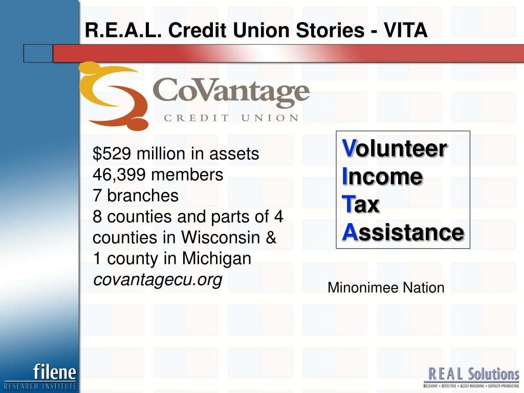 R.E.A.L. Credit Union Stories - VITA
