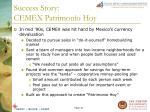 success story cemex patrimonio hoy