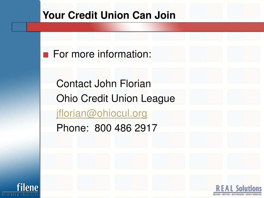 Your Credit Union Can Join