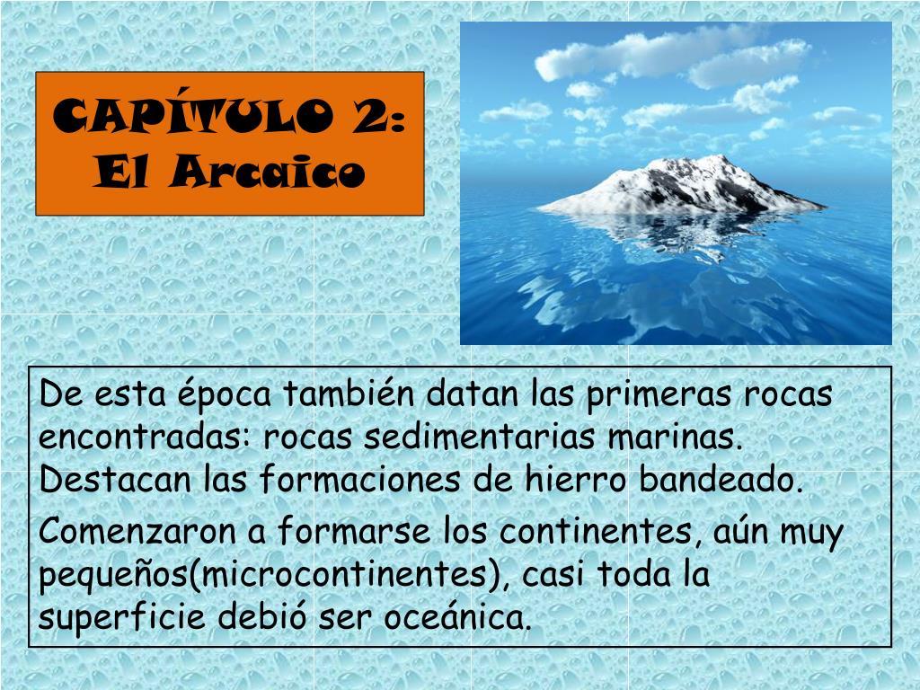 CAPÍTULO 2: El Arcaico