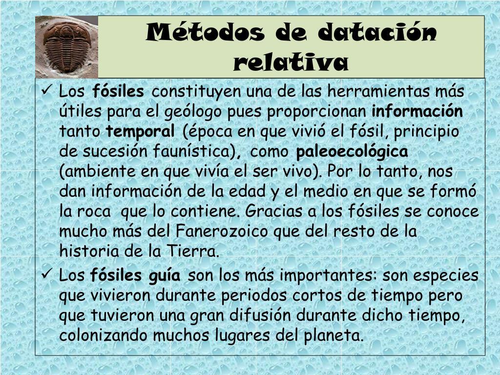 Métodos de datación relativa