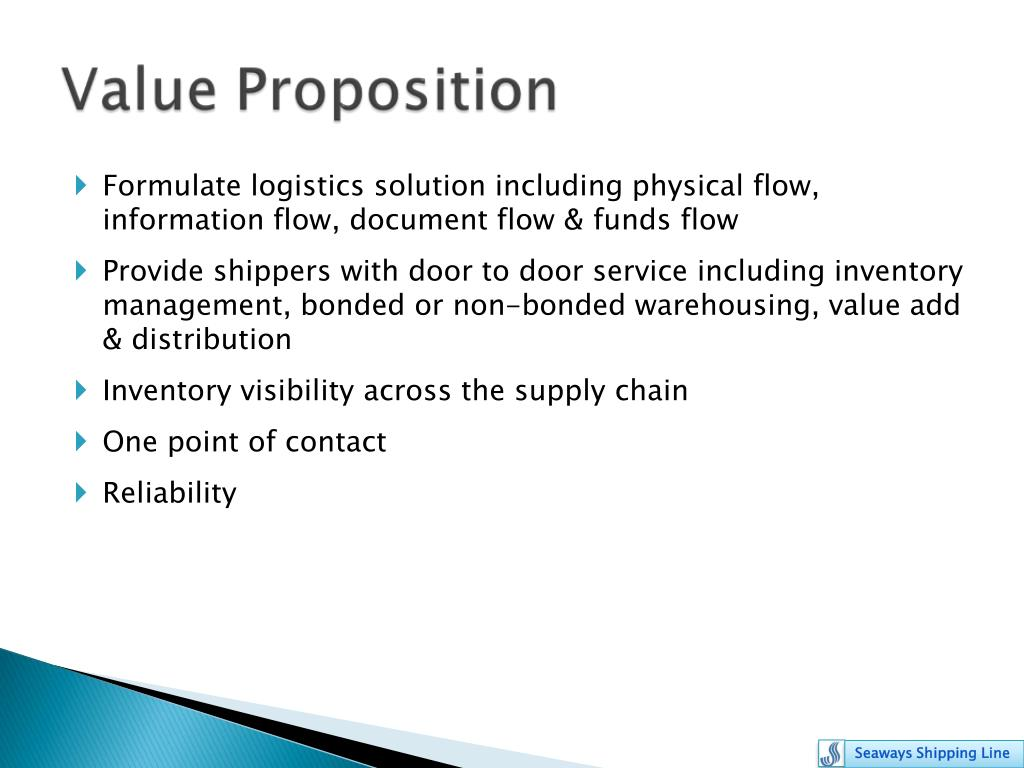 Formulate logistics solution including physical flow, information flow, document flow & funds flow