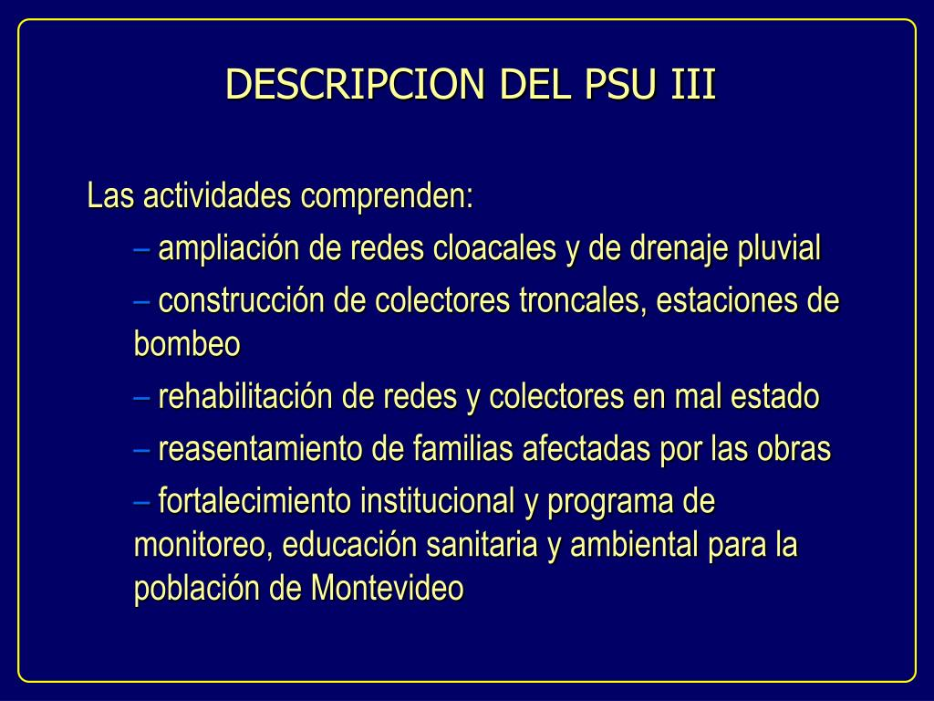 DESCRIPCION DEL PSU III