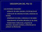 descripcion del psu iii