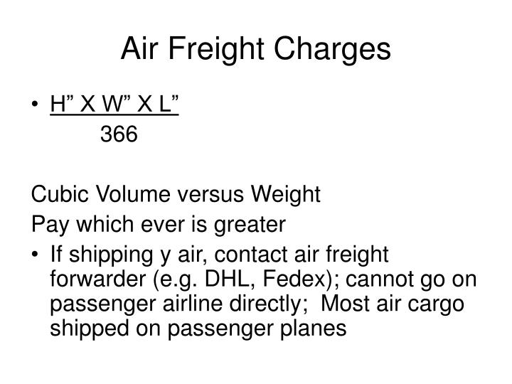 Air Freight Charges