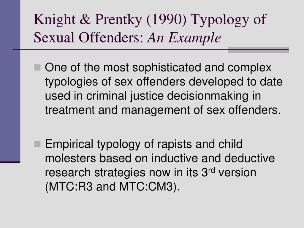 Knight & Prentky (1990) Typology of Sexual Offenders: