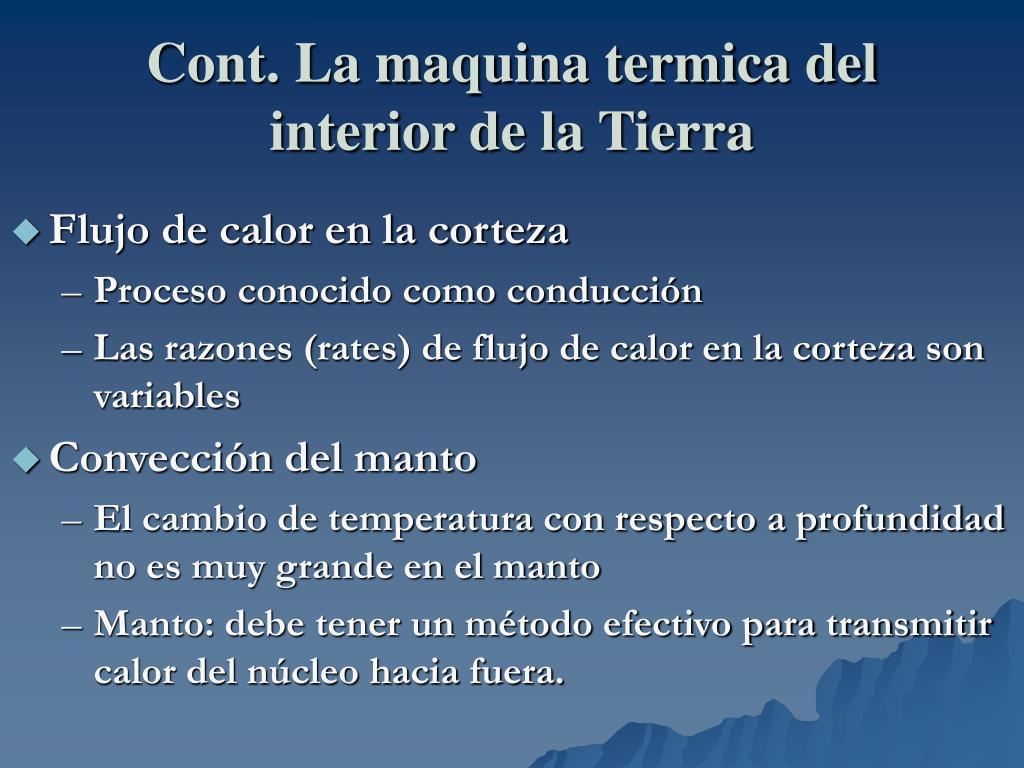 Cont. La maquina termica del