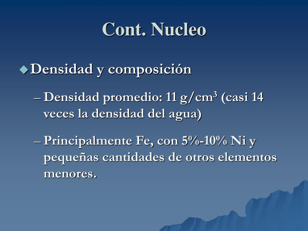 Cont. Nucleo