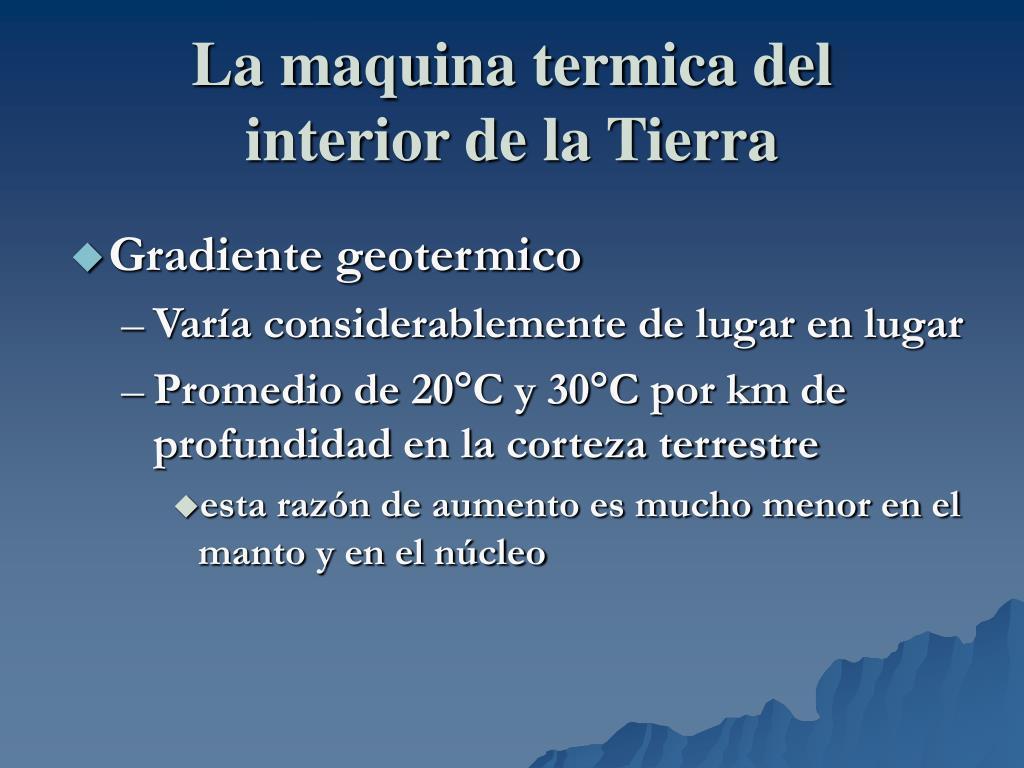 La maquina termica del