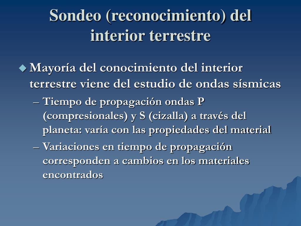 Sondeo (reconocimiento) del