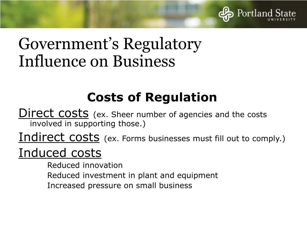 Government's Regulatory Influence on Business