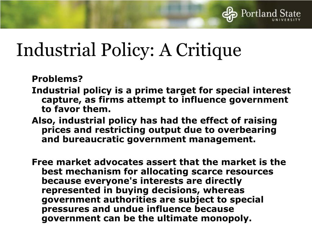 Industrial Policy: A Critique