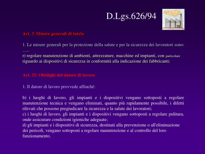 D.Lgs.626/94