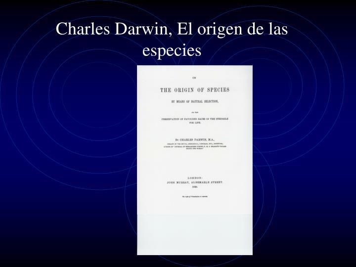 Charles Darwin, El origen de las especies
