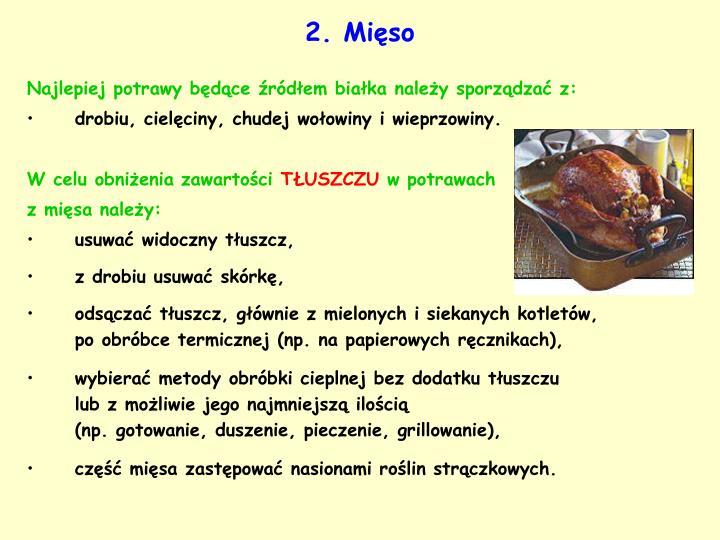 2. Mięso