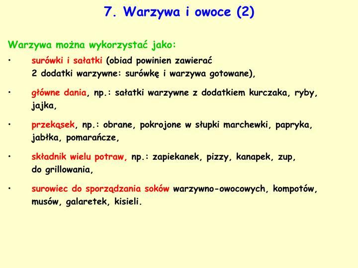 7. Warzywa i owoce (2)