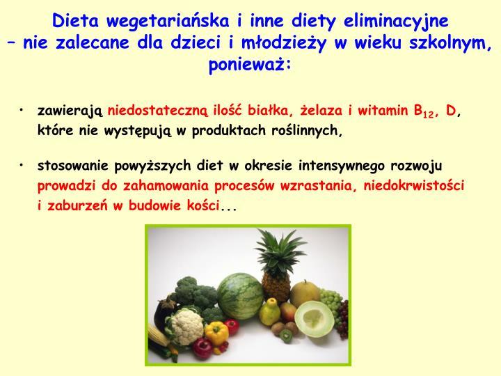 Dieta wegetariańska i inne diety eliminacyjne