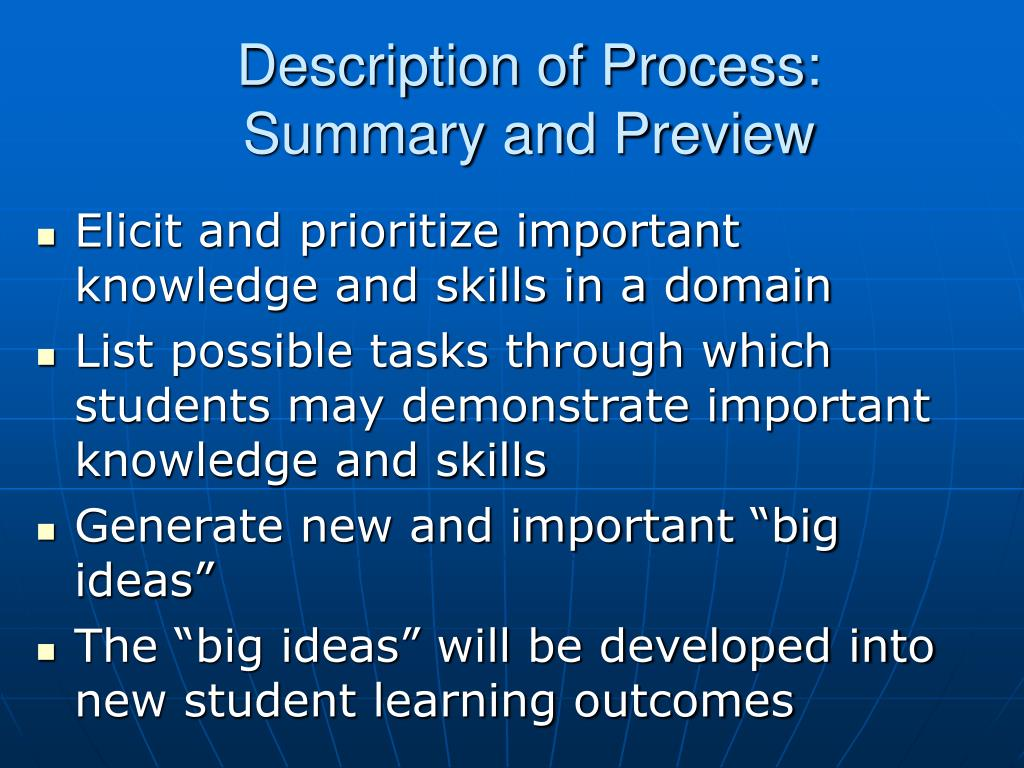 Description of Process: