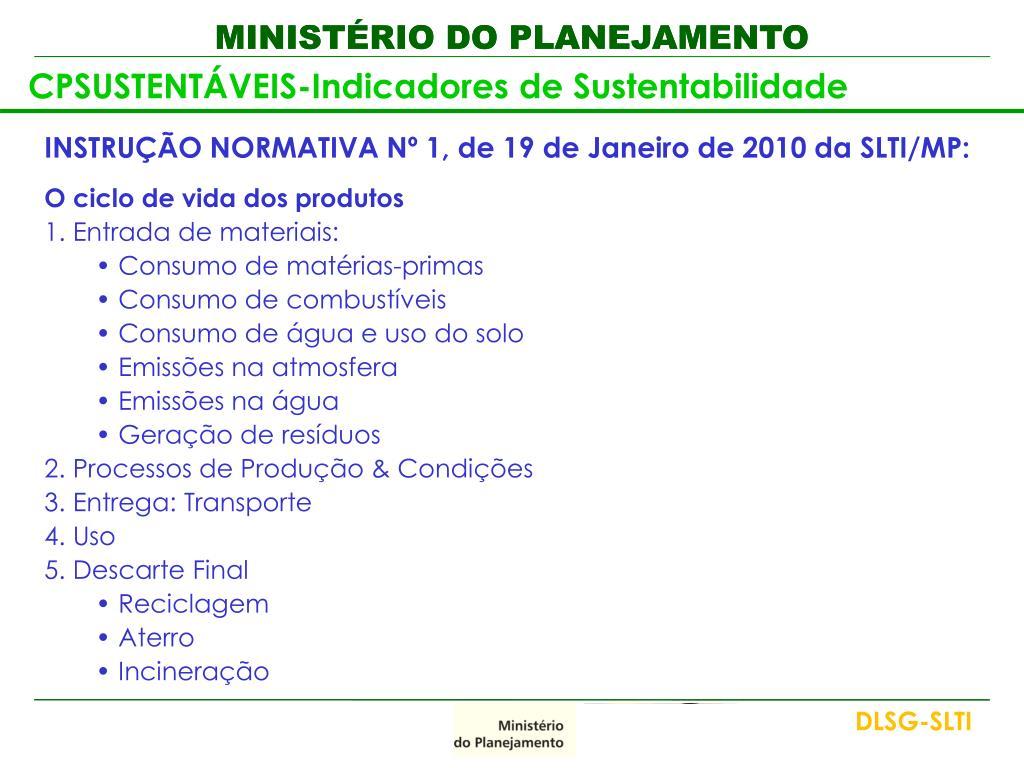 CPSUSTENTÁVEIS-Indicadores de Sustentabilidade