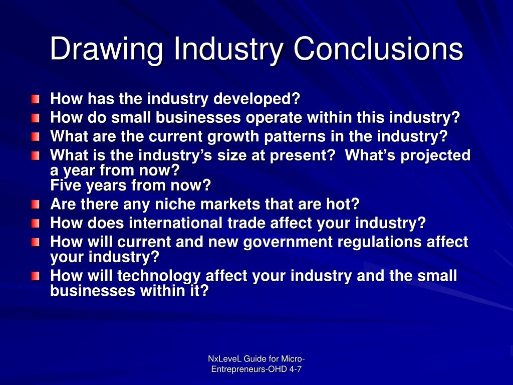 Drawing Industry Conclusions