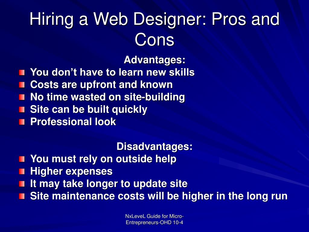 Hiring a Web Designer: Pros and Cons