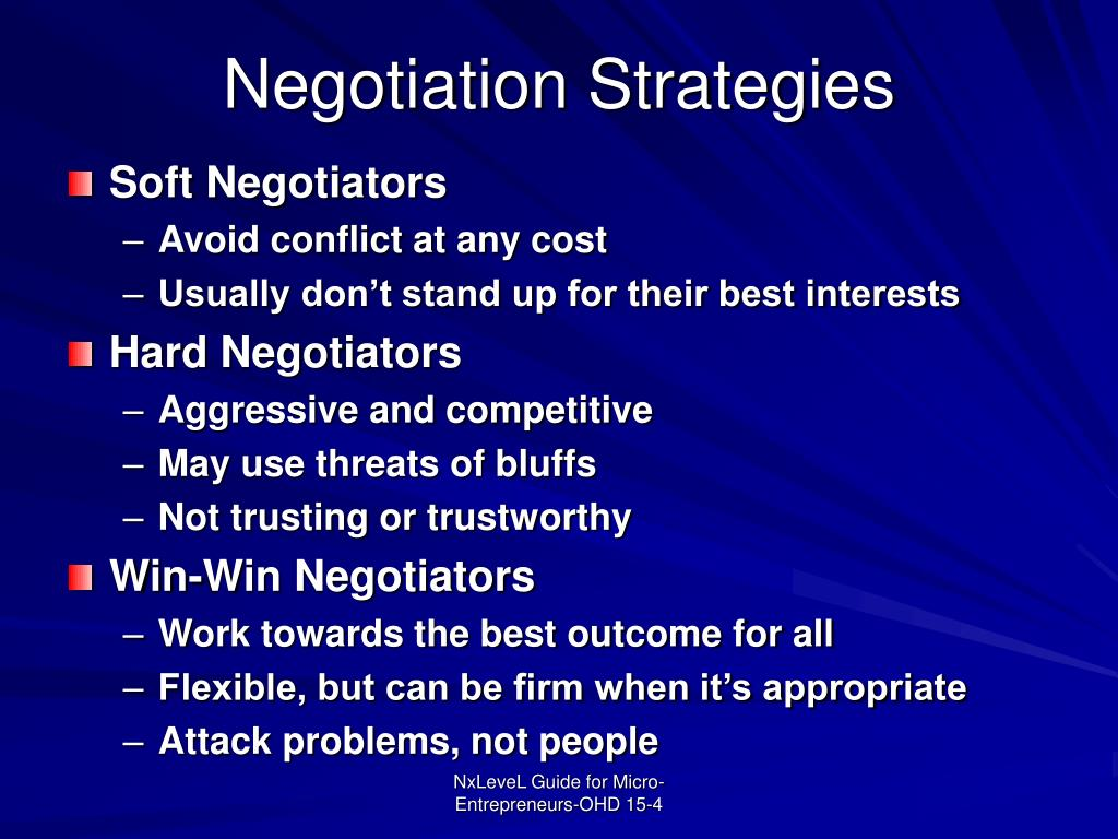 Negotiation Strategies