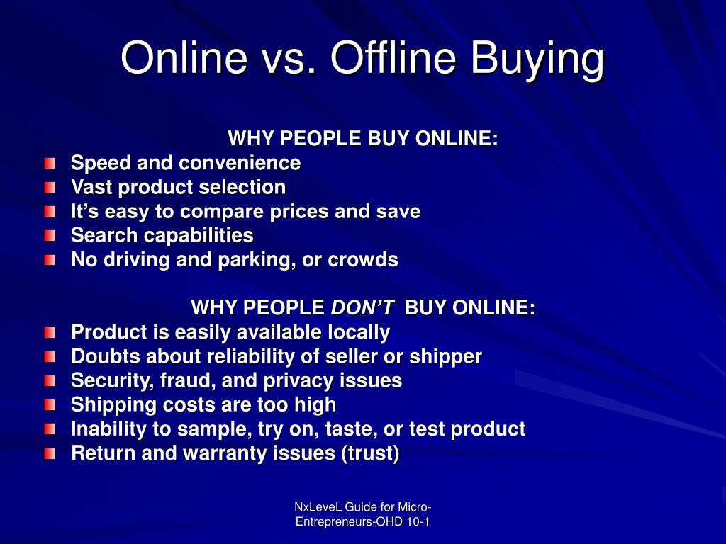 Online vs. Offline Buying