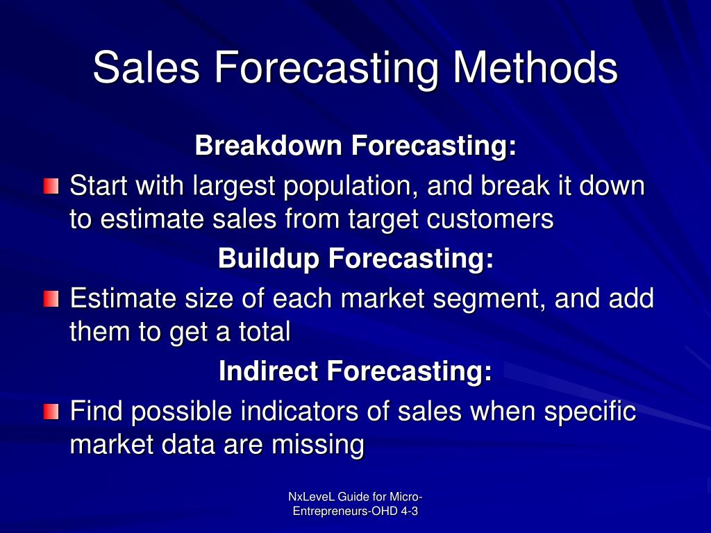 Sales Forecasting Methods