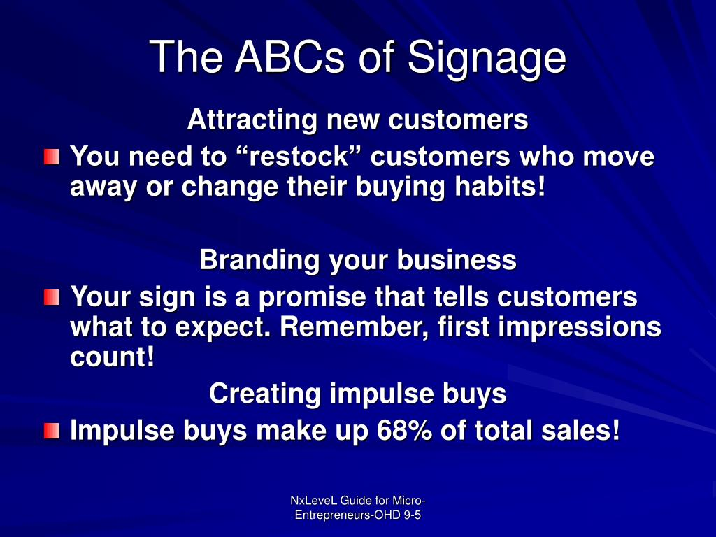 The ABCs of Signage