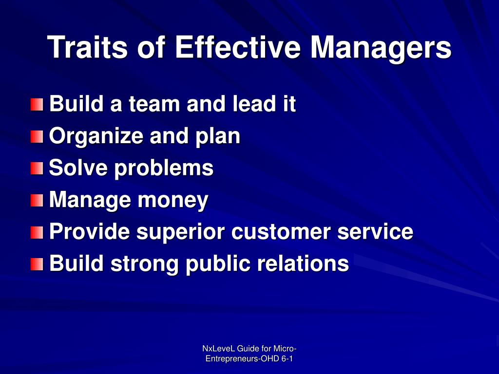 Traits of Effective Managers
