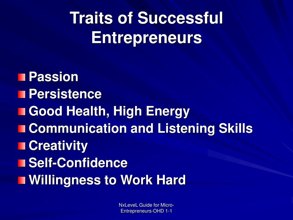 Traits of Successful Entrepreneurs