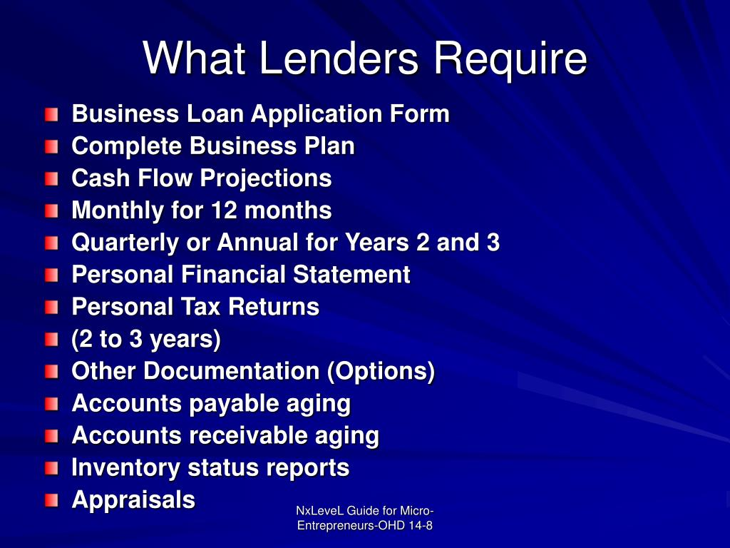 What Lenders Require