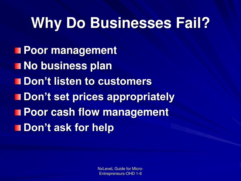Why Do Businesses Fail?