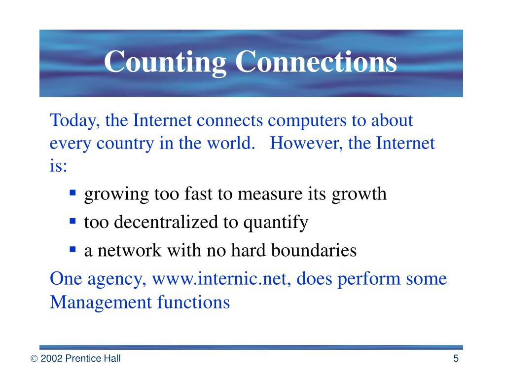 Counting Connections