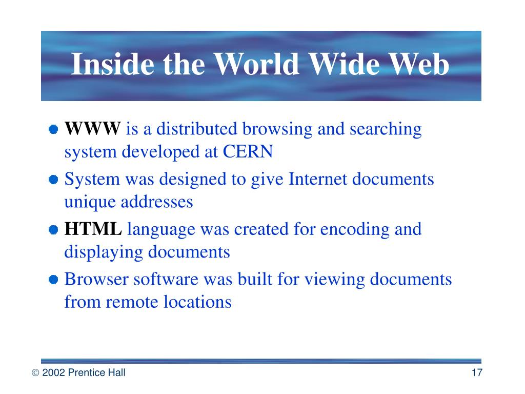 Inside the World Wide Web