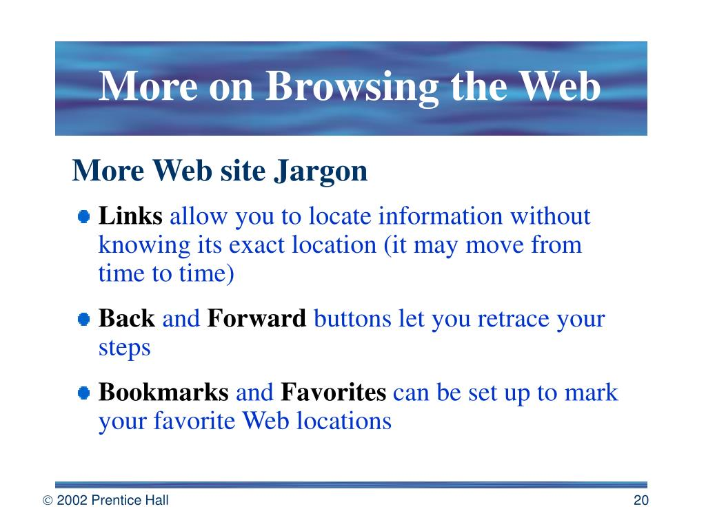 More on Browsing the Web