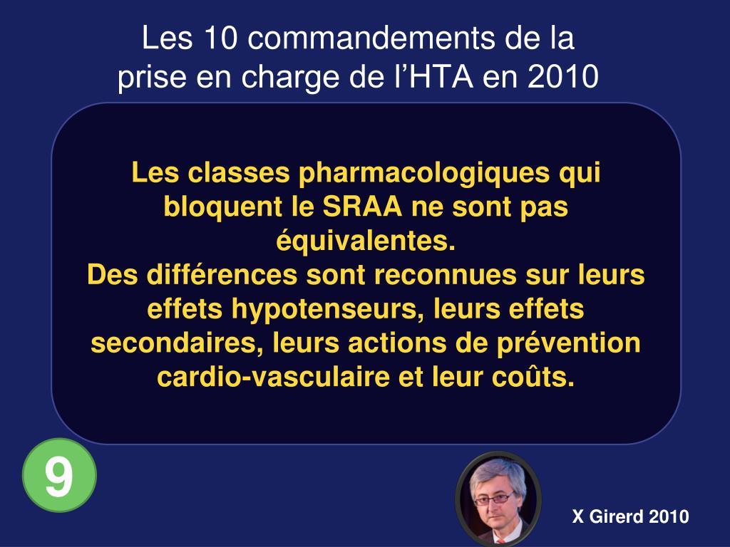 Les classes pharmacologiques qui bloquent le SRAA ne sont pas équivalentes.