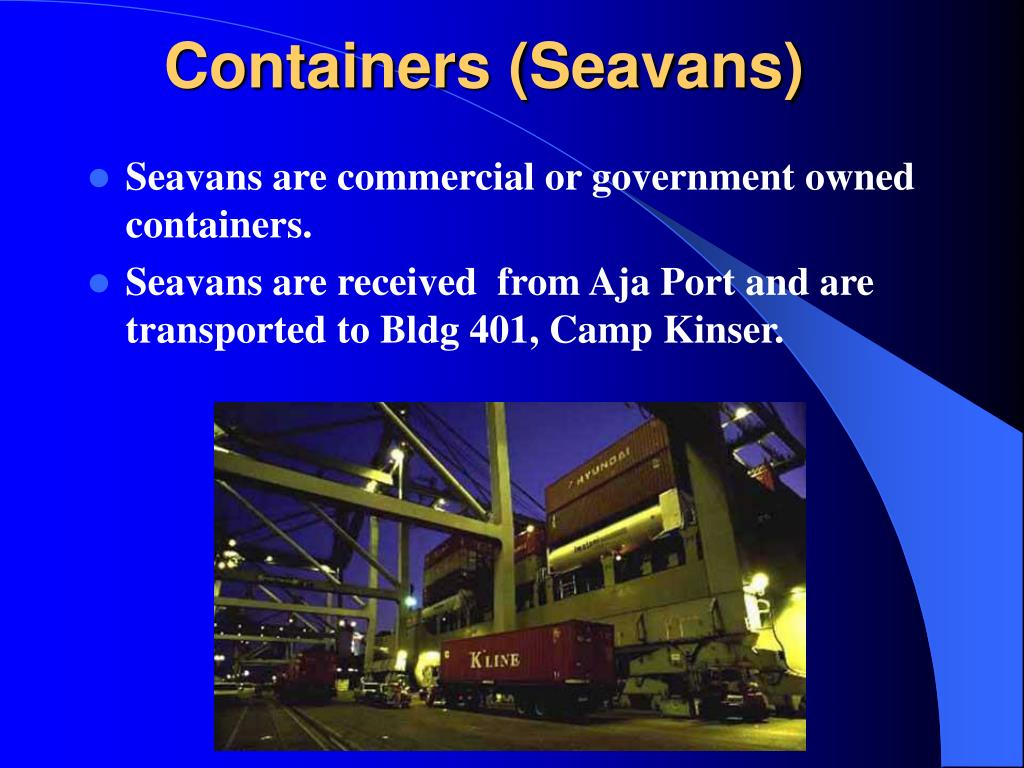 Containers (Seavans)
